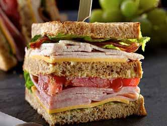 Cheeseburger Club Sandwich